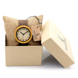 BOBO BIRD B0195 Wooden Bamboo Watch with Genuine Brown Leather Strap Quartz Analog High Quality Miyota Movement With Gift Box - On Trends Avenue