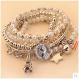 New Brand Vintage Rhinestone Bead Tower Bangles Fashion Charms Multielement Crystal Bracelet Women Fine Jewelry D171 - On Trends Avenue