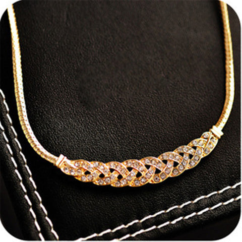 New Statement Choker Vintage Charms Gold Plated Collar Crystal Cubic Zircon Diamond Necklaces&Pendants Women Fine Jewelry A053 - On Trends Avenue