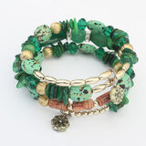 New Bohemia Turquoise Beads Gem Bangles Vintage Charms Crystal Rhinestone Stone Bracelet Women Fine Jewelry Gift A038 - On Trends Avenue