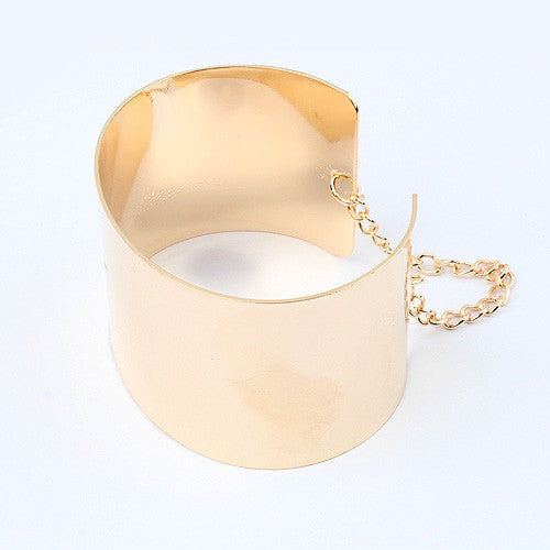 Europe and United States Fashion Personality 18K Gold Concise Punk Metal Bangle&Bracelet For Women Jewelry D026 - On Trends Avenue