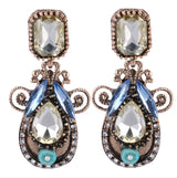 New Bijoux Vintage Charms Rhinestone Drop Earrings Fashion Crystal Cubic Zircon Diamond Dangle Earrings Women Fine Jewelry G024 - On Trends Avenue