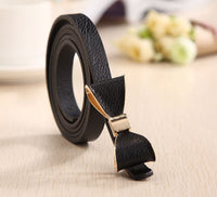 Style 13 Color Women Belt Luxury Brand Colorful Belts for Women Bow Leather Belt Female Waist Ceinture Femme - On Trends Avenue