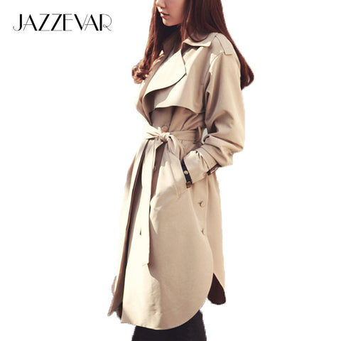 new spring fashion/Casual women's Trench Coat long Outerwear loose clothes for lady good quality C0246