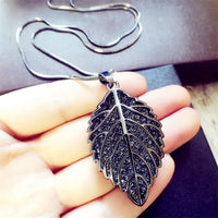 New Brand Crystal Leaf Pendant Long Necklace Vintage Charms Rhinestone Punk Necklaces Women Fine Jewelry Gift A057 - On Trends Avenue