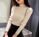 Fashion Women sweaters high elastic sexy Warm tight Bottoming sweater elegant - On Trends Avenue