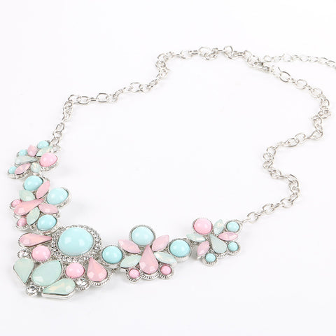 Lemon Value New Statement Choker Fashion Charms Candy Color Gem Crystal Flower Pendants Necklaces Women Jewelry Colares G054 - On Trends Avenue