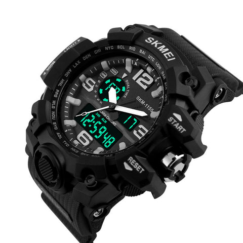 Big Dial SKMEI 1155 Digital Watches S SHOCK Military Army Men Watch Water Resistant Date Calendar LED Sports Wristwatches Mens - On Trends Avenue