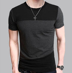 Tshirt Brand Male Short Sleeve T Shirt O-Neck Men T-Shirt Hip-Hop Simple splicing Tee Tops Shirt Homme T Shirts 3XL DUNVSIM - On Trends Avenue