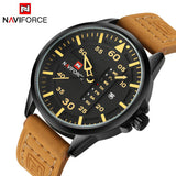 Luxury Brand Casual Men Sports Watches Men's Quartz Date Week Clock Man Leather Strap Military Army Waterproof Wrist Watch - On Trends Avenue