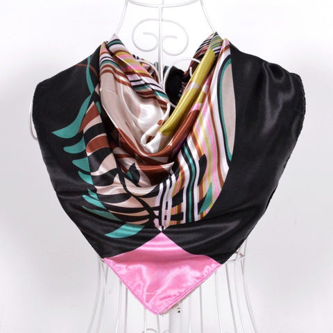 2014 Elegent Women Large Square Silk Scarf Printed,90*90cm Fashion Spring And Autumn Grey And Purple Polyester Silk Scarf Shawl - On Trends Avenue