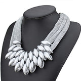 New Brand Choker Vintage Punk Collar Fashion Charms Weave Chunky Statement Bib Women Necklace&Pendant Fine Jewelry Colares A473 - On Trends Avenue