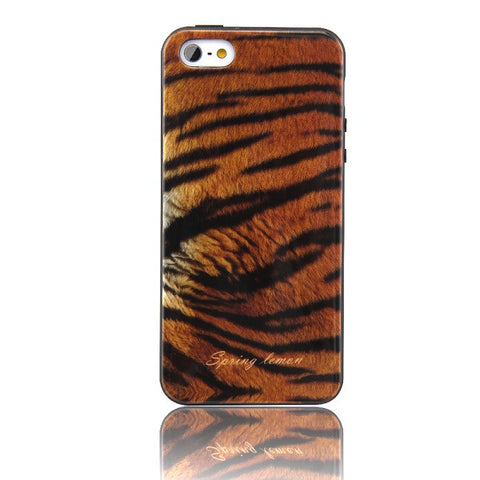 Fashion Brands Lemon Design Cool wild Leopard and Snakeskin Animal Fur Pattern Soft Cover Case For iPhone 5S 5 SE - On Trends Avenue