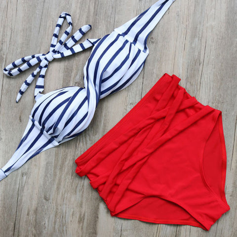 Hot Bandage Push Up Bikini Swimsuit Plus Size Available - On Trends Avenue