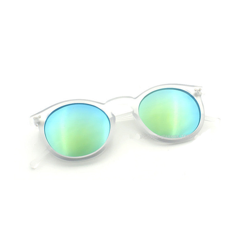 Fashion multicolour mercury Mirror glasses men sunglasses women male female coating sunglass gold round - On Trends Avenue