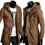 High Quality Cotton Trench Coat Men Fashion Slim Men's Jackets Outerwear Casual Windbreaker Mens Trench Coat Overcoat Casacos - On Trends Avenue