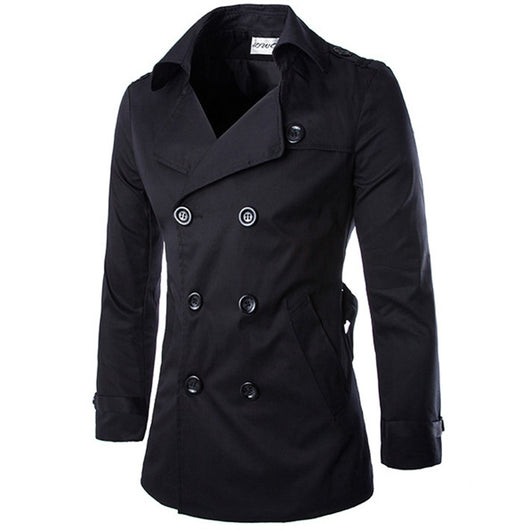 TANGNEST New Arrival Men's Fashion Popular Trench High Quality Good Design M-2XL For Male Coat MWF104 - On Trends Avenue
