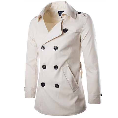 TANGNEST New Arrival Men's Fashion Popular Trench High Quality Good Design M-2XL For Male Coat Wholesale MWF104 - On Trends Avenue