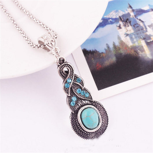 Lemon Value New Fashion Crystal Beads Earrings Bohemia Vintage Turquoise Pendants Necklaces Women Jewelry A125 - On Trends Avenue