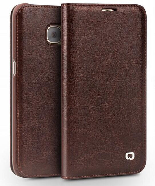 For Samsung Galaxy S7 & S7 edge Case Qialino Genuine Leather Flip Wallet Ultra Thin Case Cover for Samsung S7 & S7 edge Case - On Trends Avenue
