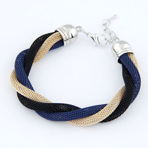 New Brand Design Vintage Charms Elegent Color Alloy With Spring Cuff  Punk Braided Rope Bracelet & Bangle Women Jewelry D207 - On Trends Avenue