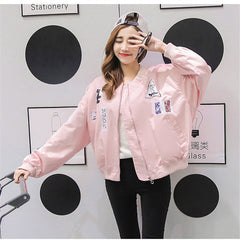 Available in Large Sizes  Print Bomber Jacket - On Trends Avenue