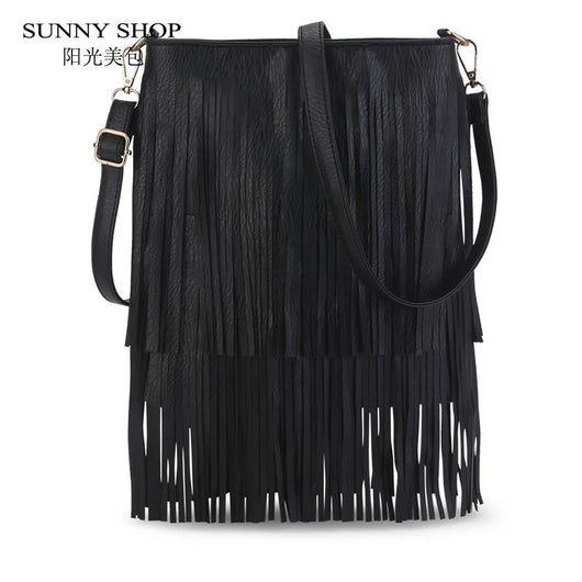 SUNNY SHOP New Arrival Tassel Women Bag Fashion Design Woman Shoulder Bags Small Women Messenger Bags - On Trends Avenue