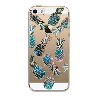 For Cell Phone Watermelon Fruits Girls Case Cover For Apple iPhone 6 6s 5 5s SE Silicone Soft Transparent Case Mobile Phone Bag - On Trends Avenue