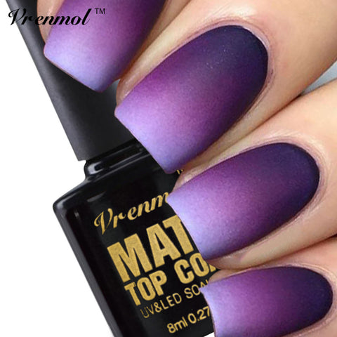 Vrenmol 1pcs Cleaning Matt Top Coat Nail Gel Polish Long Lasting Matte Top coat LED UV Nails Gel Lacquer Matt Top Gel - On Trends Avenue