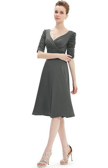 Available In Large Sizes V Neck Sexy Office Dress Plus Size Elegant