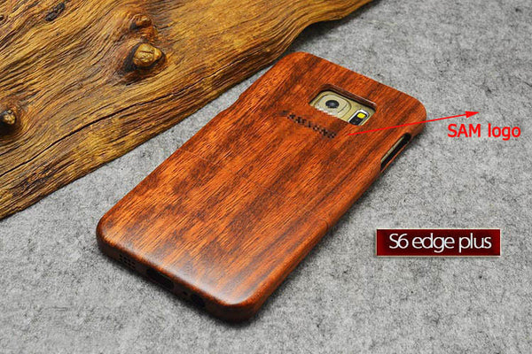 New Wood Case for Samsung s6 edge+ Natural Real Bamboo Carving Wooden Back Cover For Samsung galaxy s6 edge plus - On Trends Avenue
