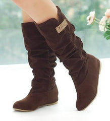 Size 34-46 Women Flat Half Boots Winter Snow Boot Fashion Quality Footwear Warm Botas Feminina Shoes P2394 - On Trends Avenue
