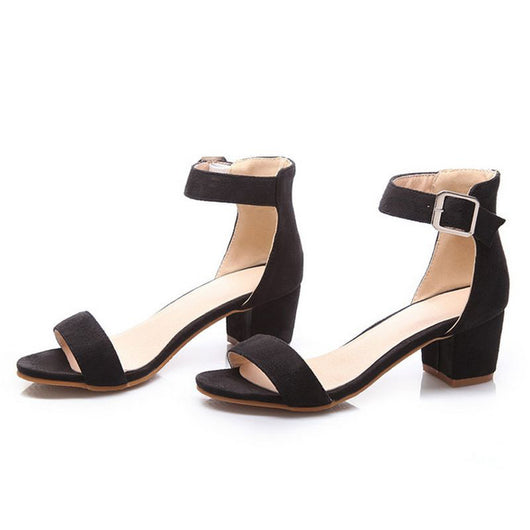Women High Heel Sandals Women Open Peep Toe Shoes Womens Lady Suede Leather High Quality Fashion Brand Shoes Size 34-43 PA00633 - On Trends Avenue