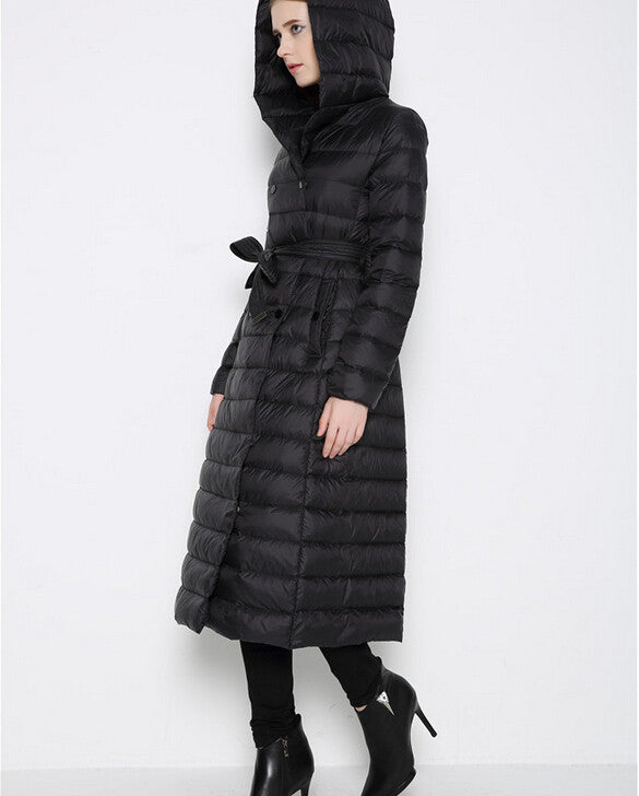 Ultra Light Duck Down Puffer Coat with Hood - On Trends Avenue