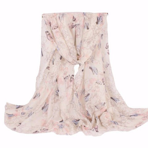 Animal Butterfly Women Scarf Insect  Brand Women Scarves With Fashion Design 180*80cm - On Trends Avenue