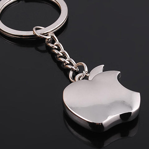New arrival Novelty Souvenir Metal Apple Key Chain Creative Gifts Apple Keychain Key Ring Trinket car key ring car key ring - On Trends Avenue