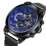 Top Brand Naviforce Fashion Men Sports Watches Stainless Steel Quartz Watch Auto Date Army Military Waterproof Wrist watch - On Trends Avenue