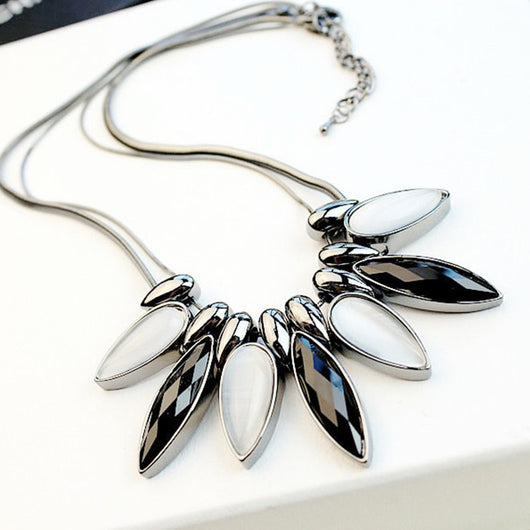 Lemon Value New Statement Choker Vintage Charms Collar Rhinestone Crystal Pendants Necklaces Maxi Women Jewelry Collier TP015 - On Trends Avenue