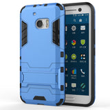 Case for HTC 10 Shockproof Super Slim Armor Design TPU 2 in 1 with Kickstand - On Trends Avenue