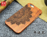 Retro Bamboo Wood Skull Carving Case for iPhone 6 6s Novelty Wooden Case Cover for iPhone 6s plus 6 plus - On Trends Avenue
