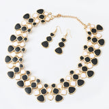 Lemon Value New Statement Maxi Choker Fashion Charms Collar Vintage Punk Chain Necklace Earrings Women Jewelry Sets Collier A205 - On Trends Avenue