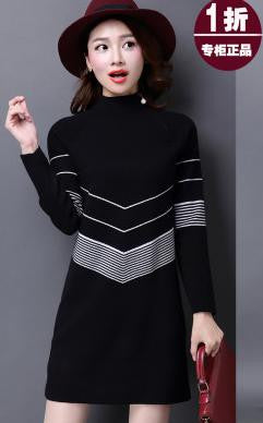 Available in Large Sizes Winter Sweater Mini Knitted WOOL Sweater Dress Plus Size High Quality Warm Women Sweater and Pullovers 4 Colors - On Trends Avenue