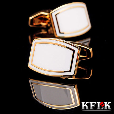 KFLK jewelry 2016 French shirt cufflink for mens Brand Cuff link Button High Quality Gold Luxury Wedding Groom Free Shipping - On Trends Avenue