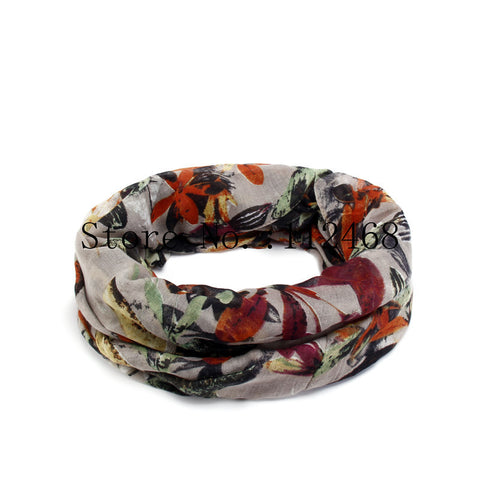 New fashion Infinity scarves 1pc Autumn Leaves Print  Woman Viscose Cotton Tube scarves V8A9219 - On Trends Avenue