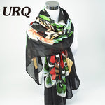 Brand Designer Luxurious Butterfly Scarf Woman Long Twill Cotton Big Scarves Shawl X9A18436 - On Trends Avenue