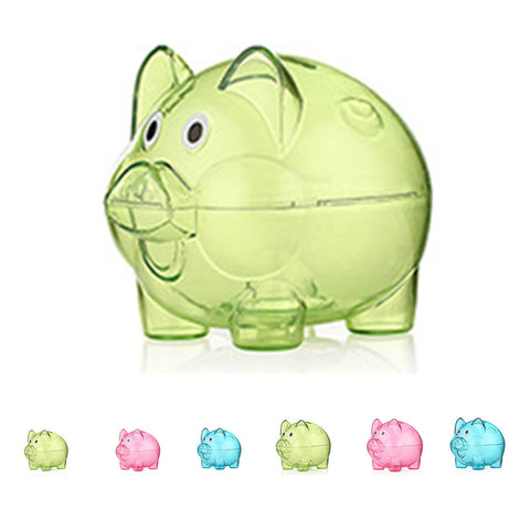 Transparent Plastic Money Saving Box Case Coins Piggy Bank Cartoon Pig Shaped - On Trends Avenue