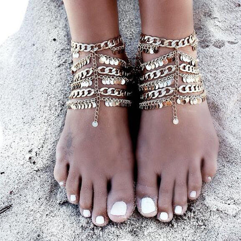 Gold Bohemia Anklet Bracelet Foot Chain For Women - On Trends Avenue