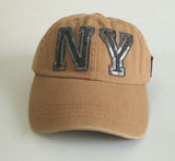 NY Sequins Baseball Cap Brand Snapback 5 Colors - On Trends Avenue