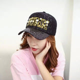 New Letter DUMM Lace Sequins Baseball Cap Men And Women For Hat Hip-hop Cap - On Trends Avenue