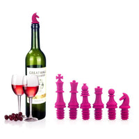 6pcs/set Newest Chess Champagne Wine Stopper Novelty Bar Tools Wine Cork Bottle Plug Perky - On Trends Avenue